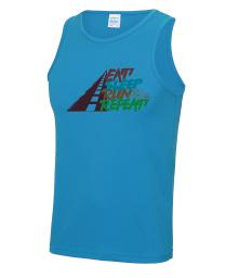Mens Eat Sleep Run Repeat Tech Vest