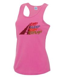 Ladies Eat Sleep Run Repeat Tech Vest