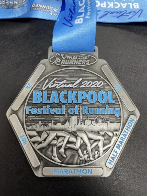 Blackpool Festival of Running Medal