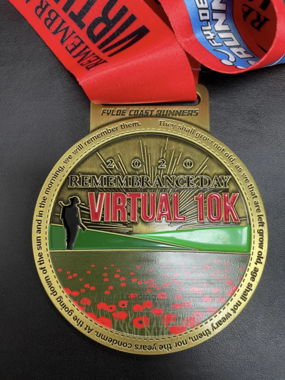 Remembrance Day 10k Medal