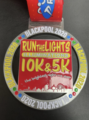 Run the Lights 10k & 5k Medal