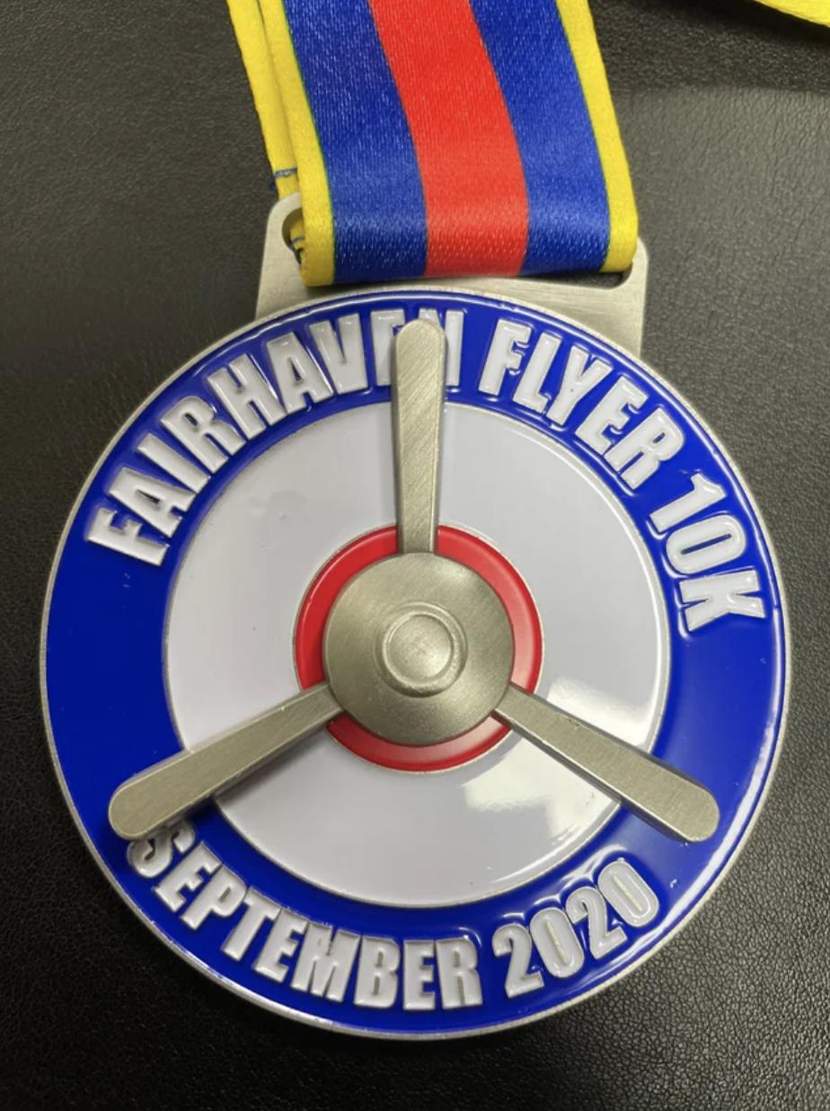 Fairhaven Flyer 10k Medal