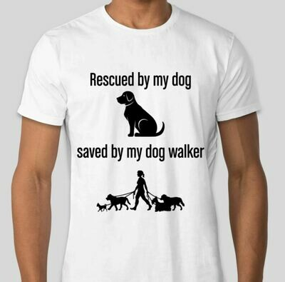 Rescued and Saved (Men) T-Shirt --White