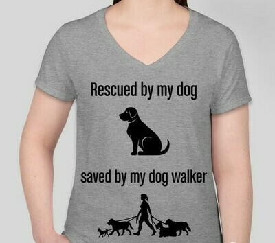 Rescued and Saved (Women) T-Shirt--Gray