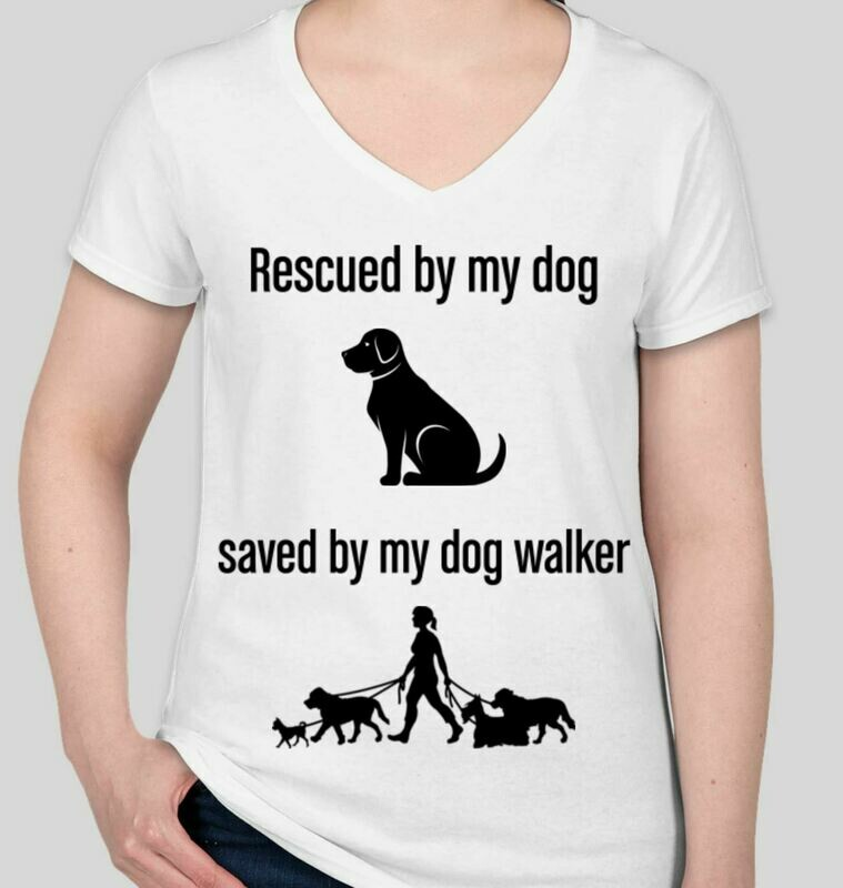 Rescued and Saved  (Women) T-Shirt White