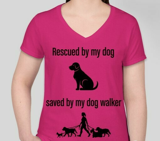 Rescued and Saved (Women) T-Shirt Pink