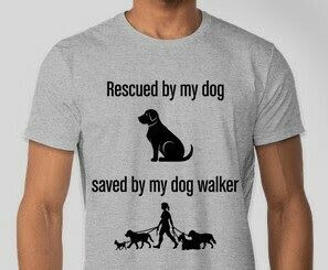 Rescued and Saved (Men) T-shirt Gray