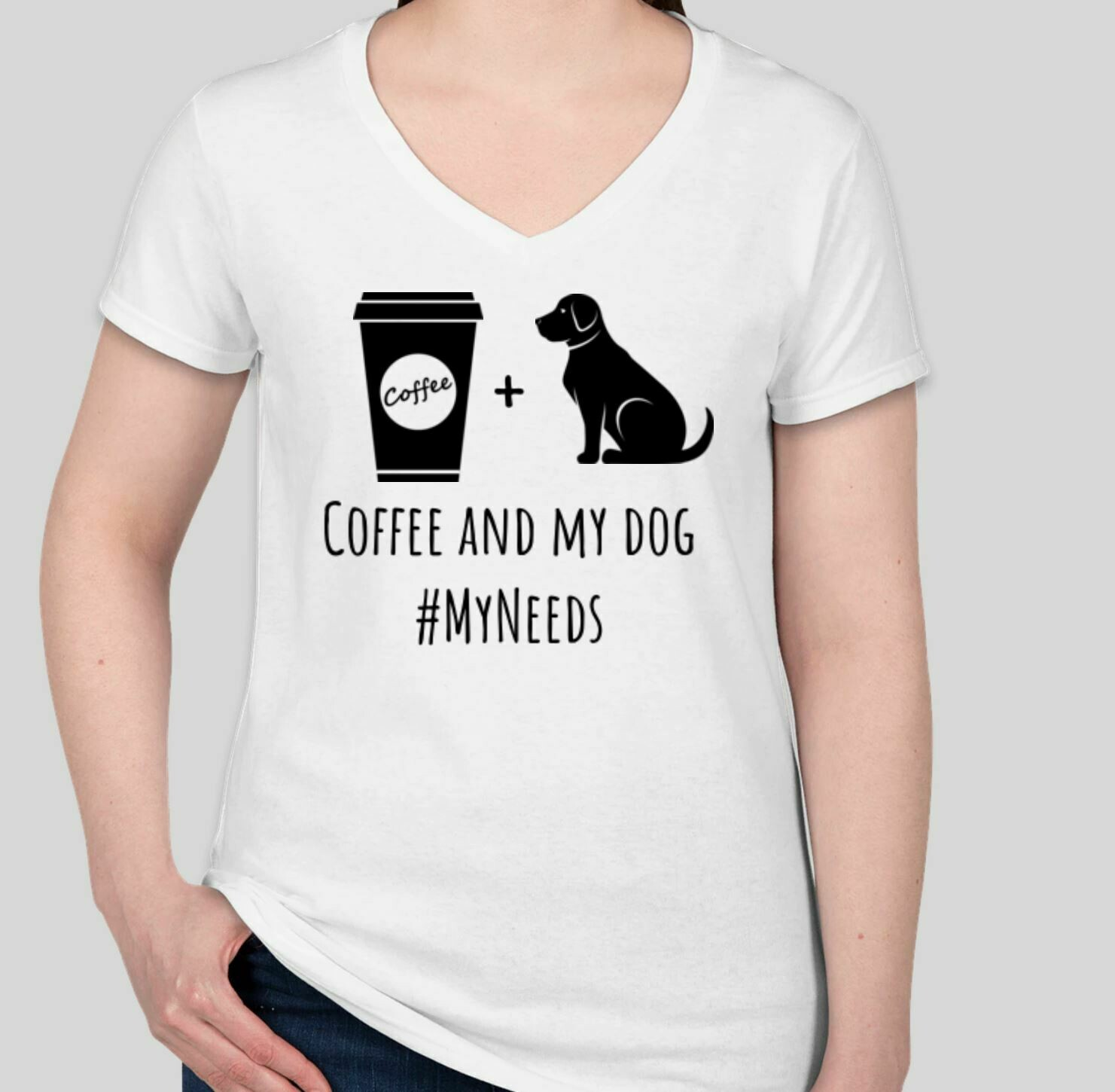 Coffee and My Dog (Women) White