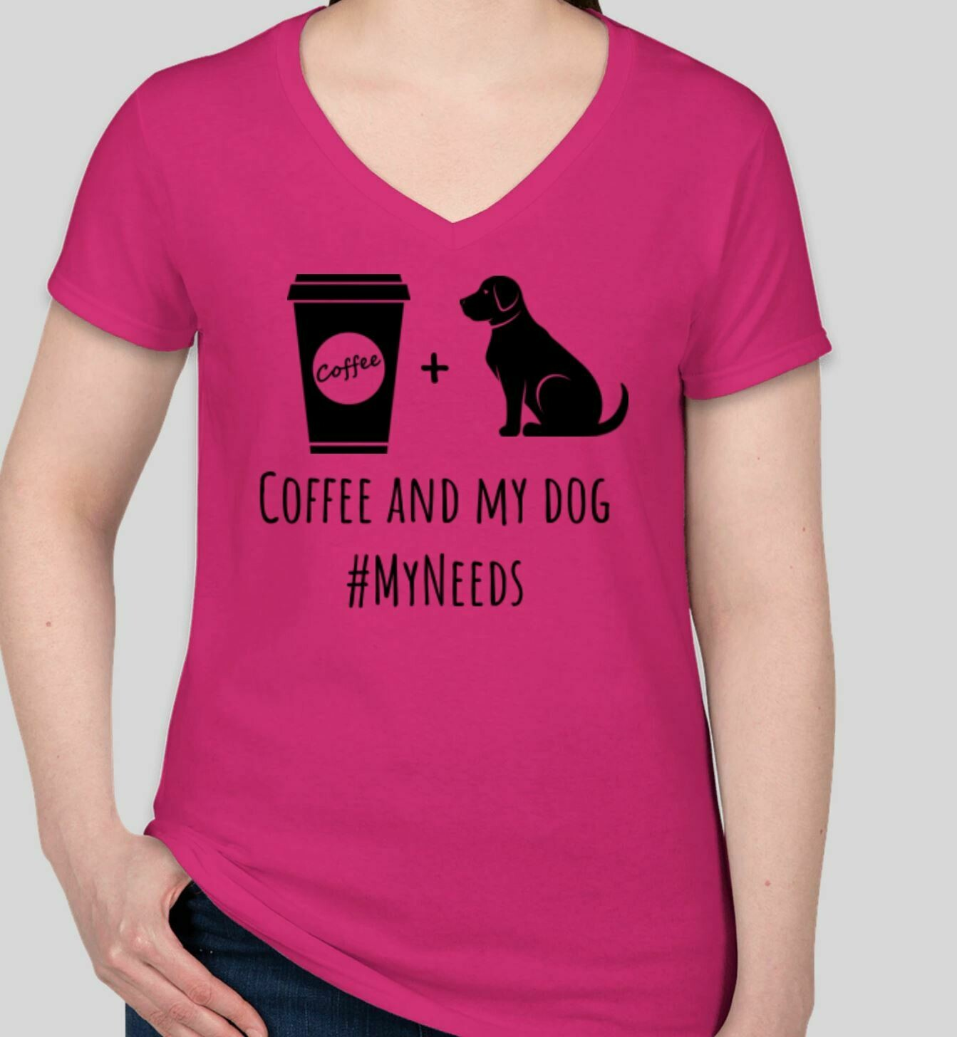 Coffee and My Dog (Women) Pink