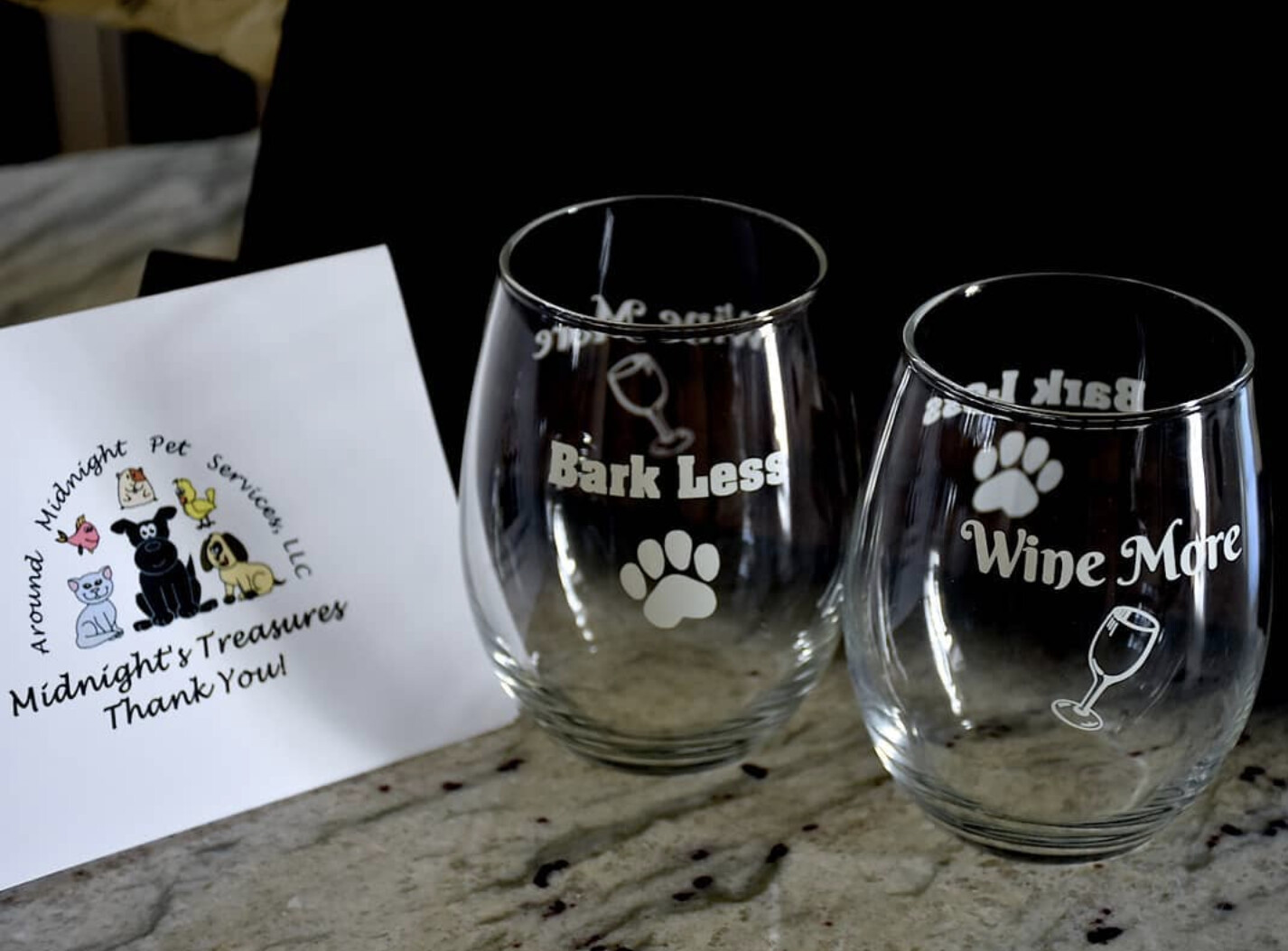 Bark Less Wine More 15oz Stemless Wine Glass