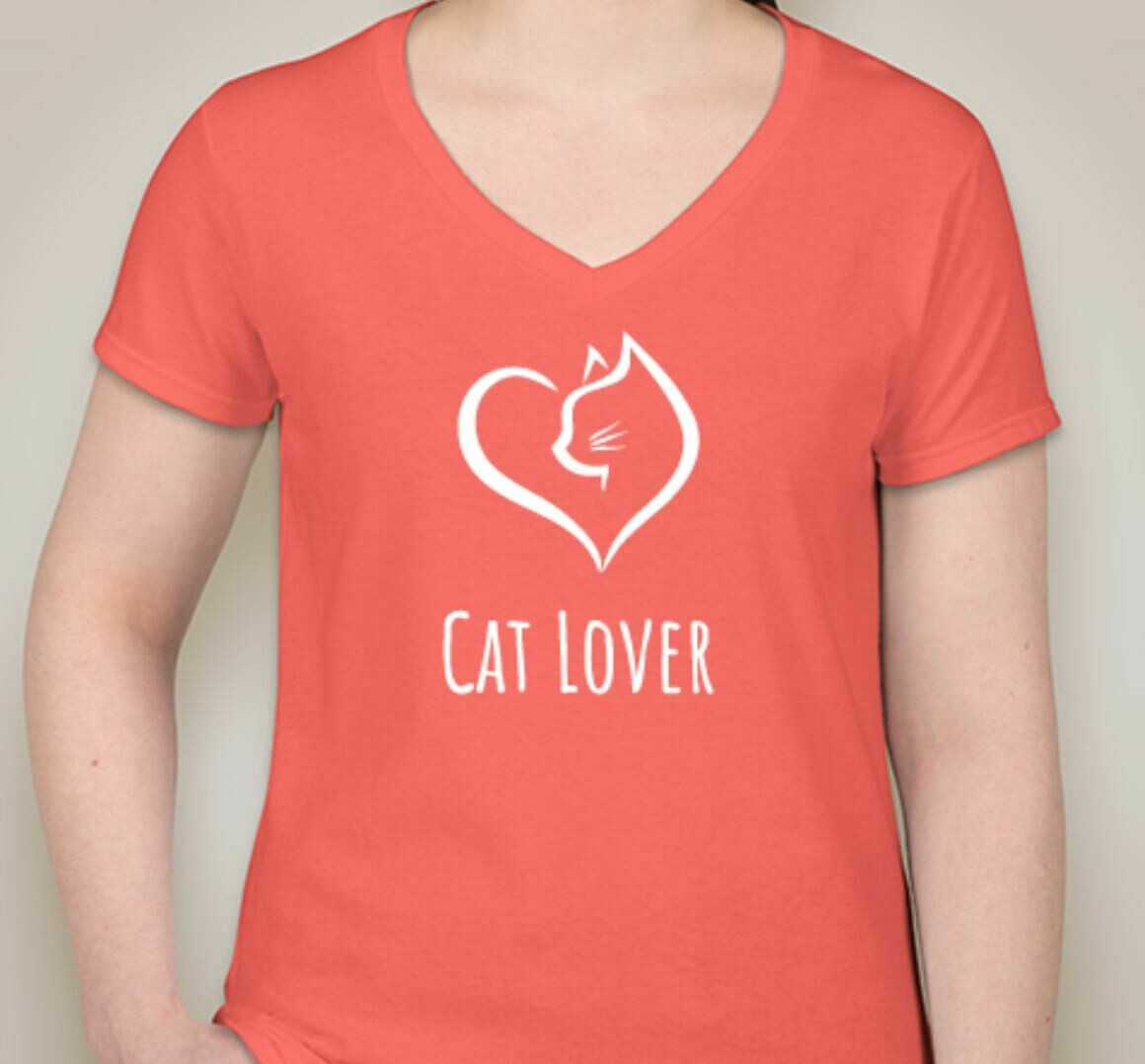 Cat Lover (Women) Coral