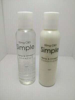 CBD, Hemp and Omega-3 Shampoo & Conditioner Set