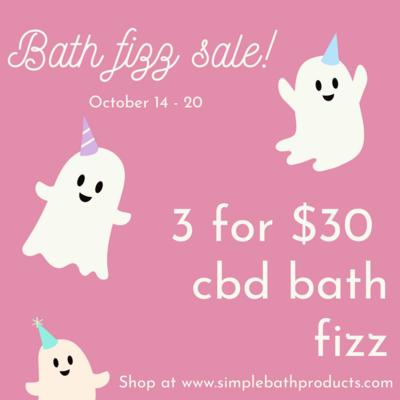 CBD Bath Fizz Sale 3 for $30