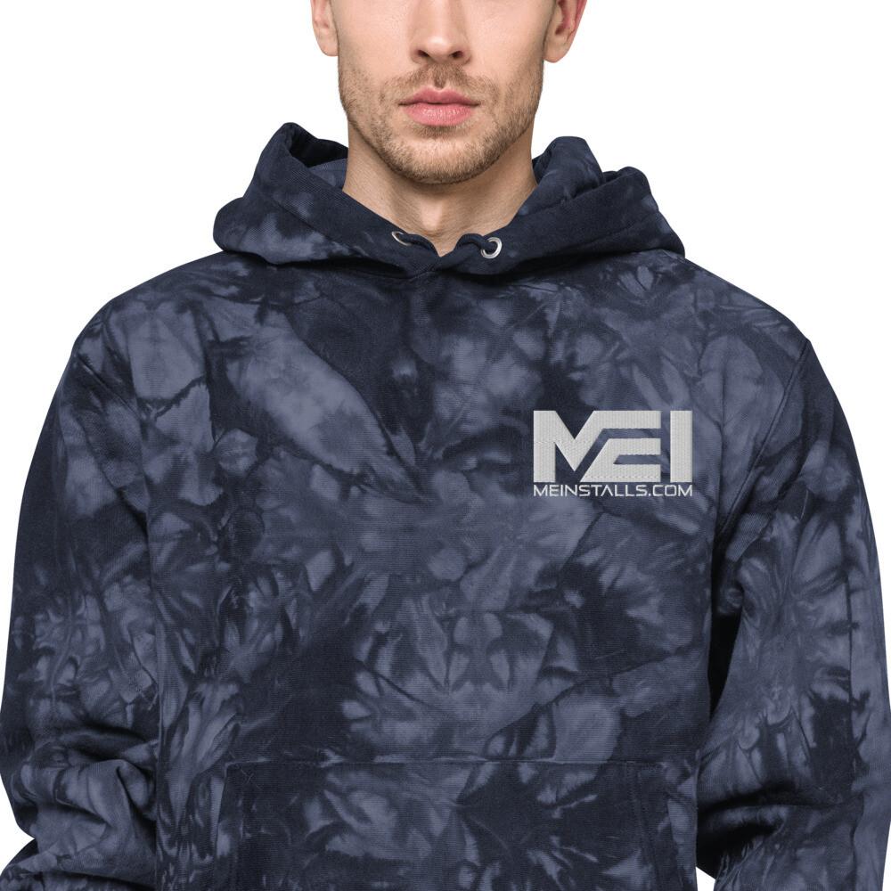 MEI  Embroidered Unisex Champion tie-dye hoodie