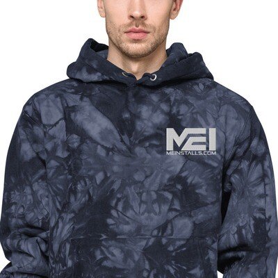 MEI  Embroidered Unisex Champion tie-dye hoodie