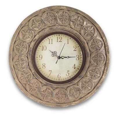 TT316 Round Stone Look Clock