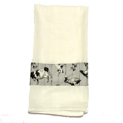 KL219T Grey Farm Tea Towel