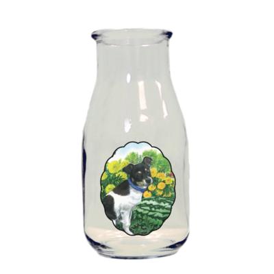 HMJ Heidi Miller Glass Milk Bottle