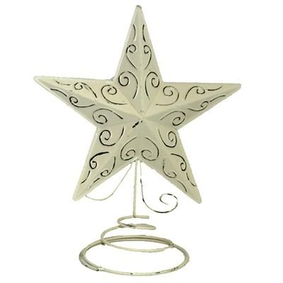 XE206 Metal Star Tree Topper