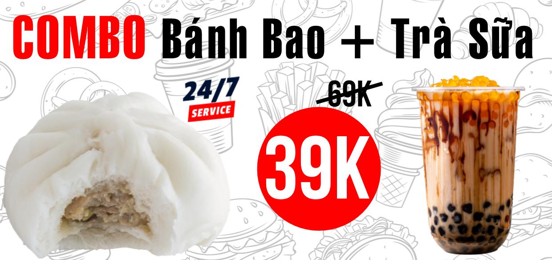 Combo Bánh Bao + Trà Sữa