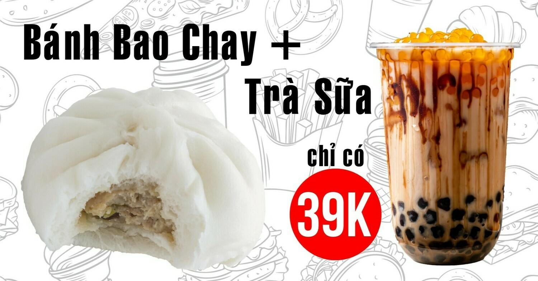 Combo Bánh Bao Chay + Trà Sữa