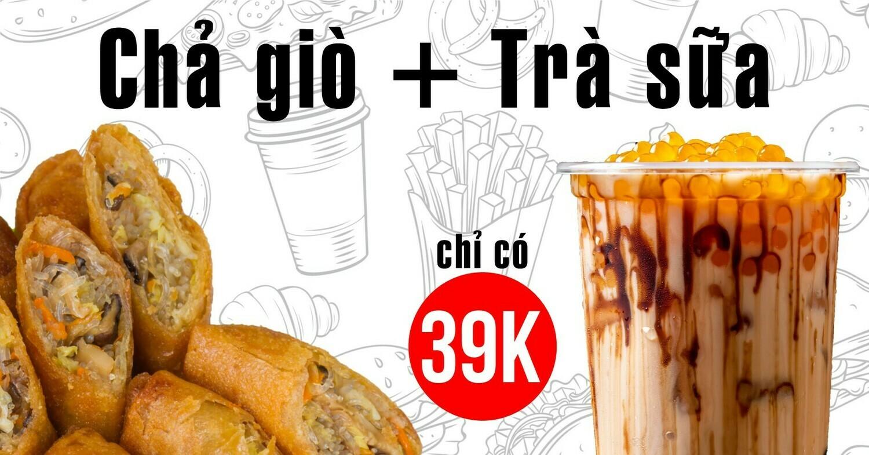 Combo Chả Giò  + Trà Sữa