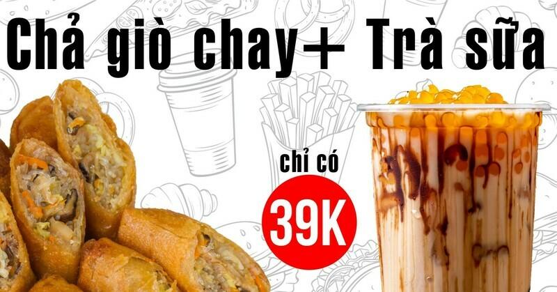 Combo Chả Giò Chay + Trà Sữa