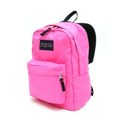 Jansport Superbreak Backpack - Flourescent Pink
