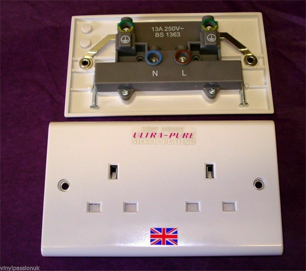Missing Link EPS-100 Silver Plated double wall socket