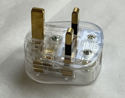 Clear Bodied Uk Mains Plug