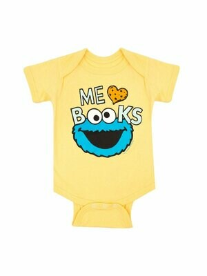 Cookie Monster Loves Books Onesie