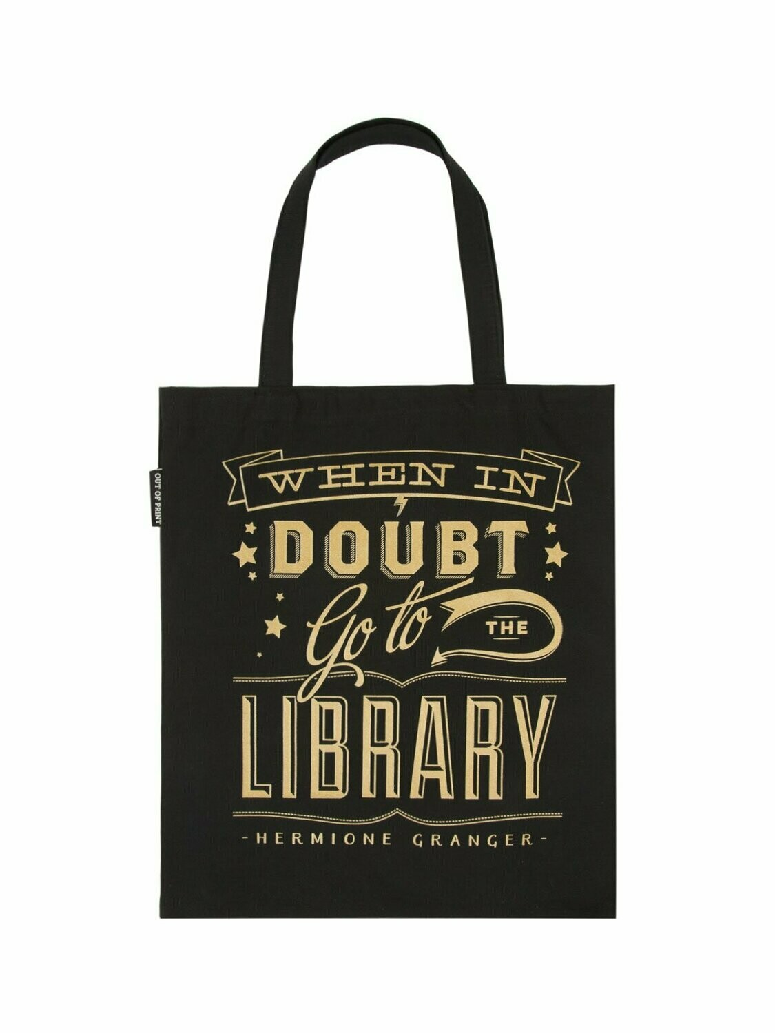 "Harry Potter ""When in Doubt, Go to the Library"" tote bag"