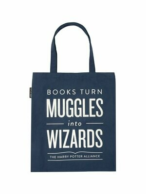 "Harry Potter ""Books Turn Muggles Into Wizards"" tote bag"