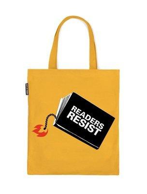 Readers Resist tote bag