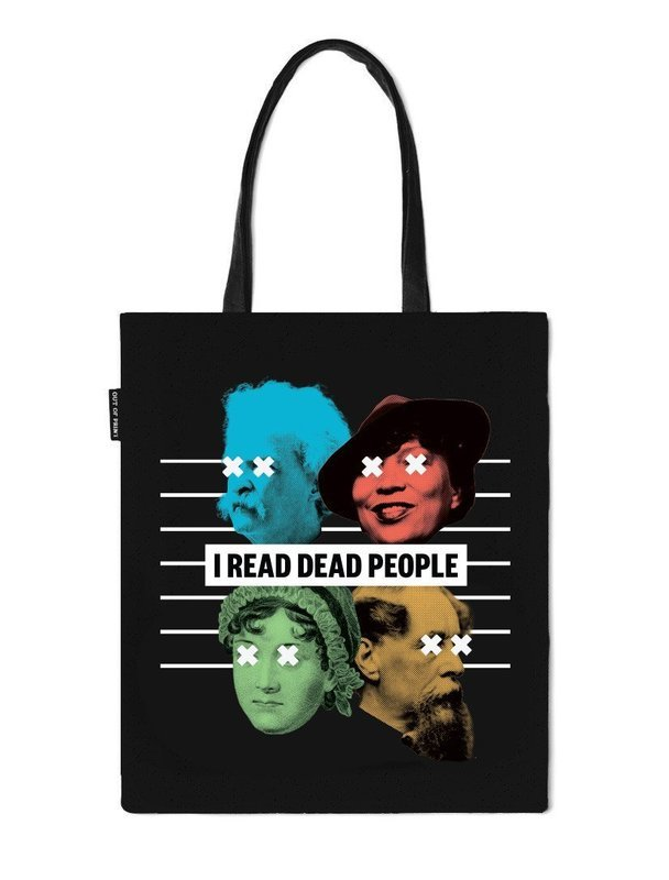 I Read Dead People tote bag