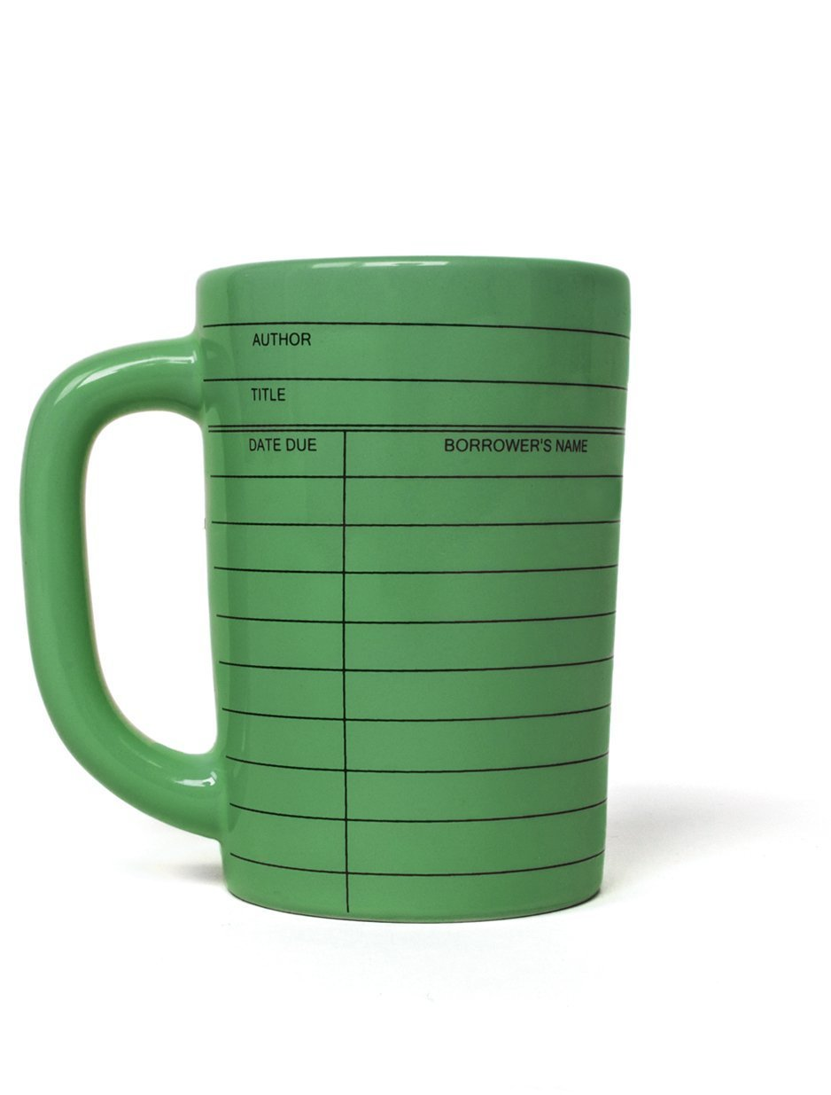 Library Card green mug
