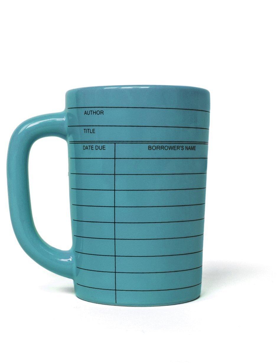Library Card blue mug