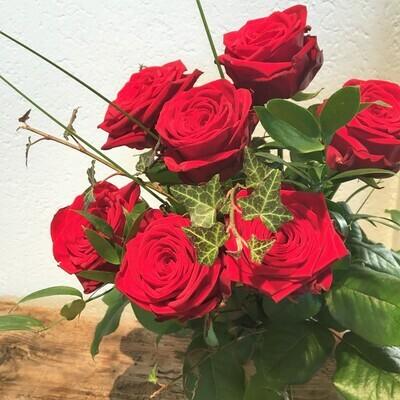 Rosenstrauss langstielig, rot