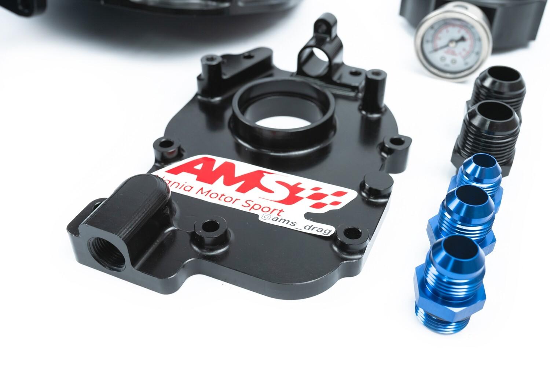 Передняя крышка мотора Subaru (4 цилиндра) черная