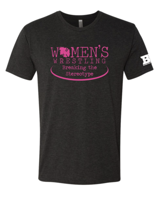 Womens Wrestling Mens Triblend Shirt