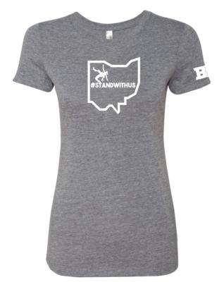 #Standwithus womens Triblend Shirt