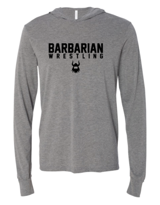 BA WRESTLING Hooded Long Sleeve Tee