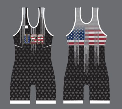 NEW BLACK USA SINGLET
