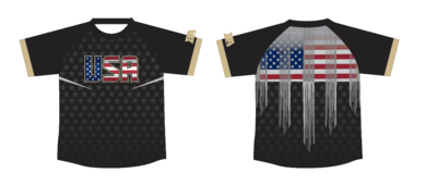 BA Black USA Compression Shirt
