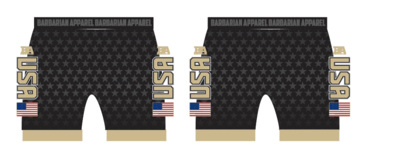 BA black usa compression short