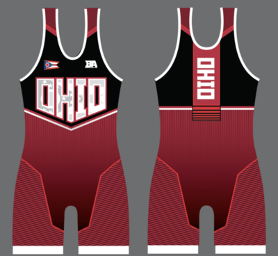 OHIO RED FREESTYLE SINGLET