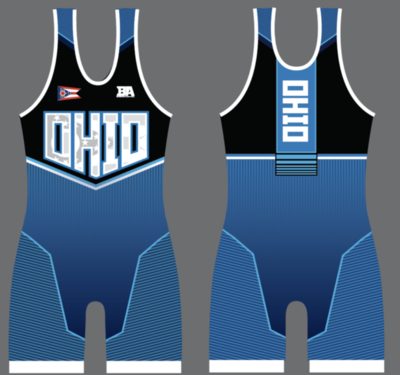 OHIO BLUE FREESTYLE SINGLET