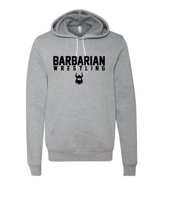 Barbarian Grey Fleece Hoodie