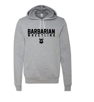Barbarian Grey Fleece Hoodie