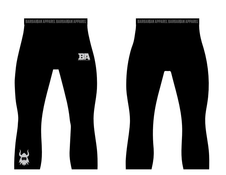 Black 3/4 Compression Pants